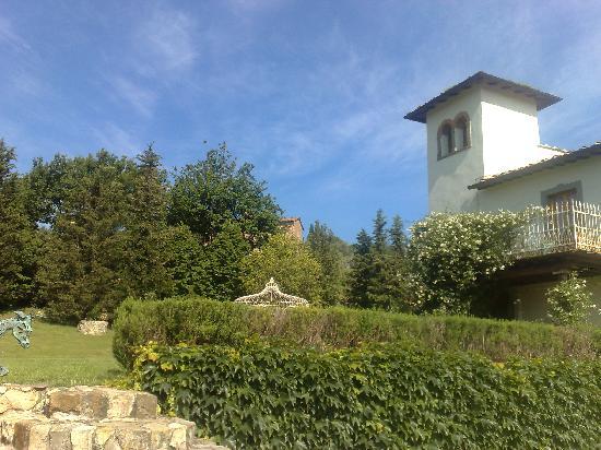 garden at villa rignana