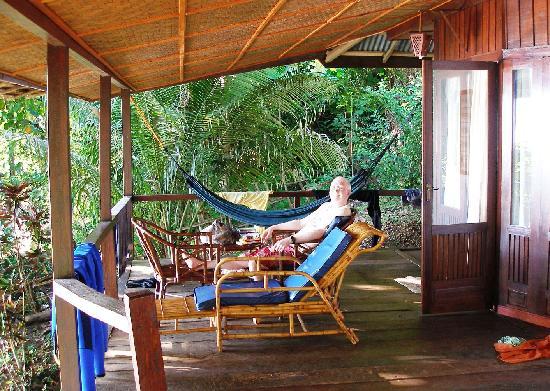 Bunaken Cha Cha Nature Resort: relaxing on our veranda