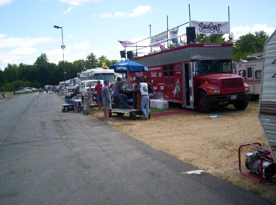 New Hampshire Motor Speedway: NHMS Camping- This is the Monster Bus, Great People