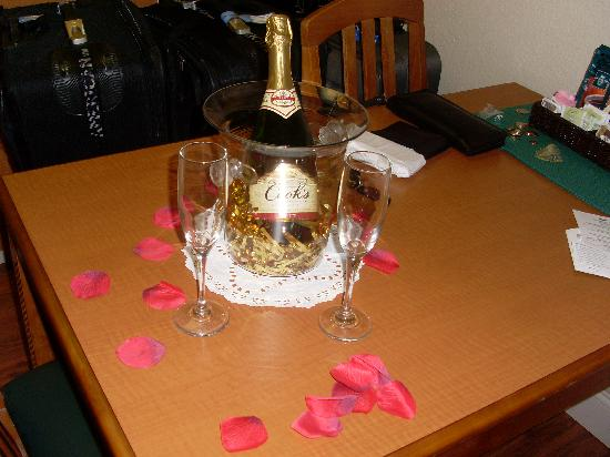 Homewood Suites Orlando-International Drive/Convention Center: Champagne from the hotel staff when we arrived