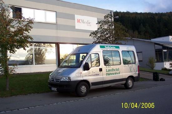 Landhotel Hühnerhof: The Manager even loaned us the hotel van!!  No Charge!