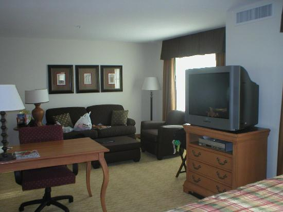 Homewood Suites by Hilton @ The Waterfront: Sitting area from bed