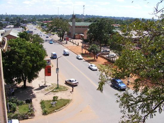 Kitwe, Zambia: View from Hotel