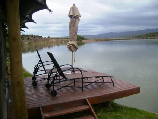 Buffelsdrift Game Lodge: our terrace in the horrible weather