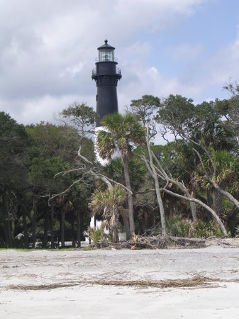 Hunting Island State Park: Lighthouse from the beach