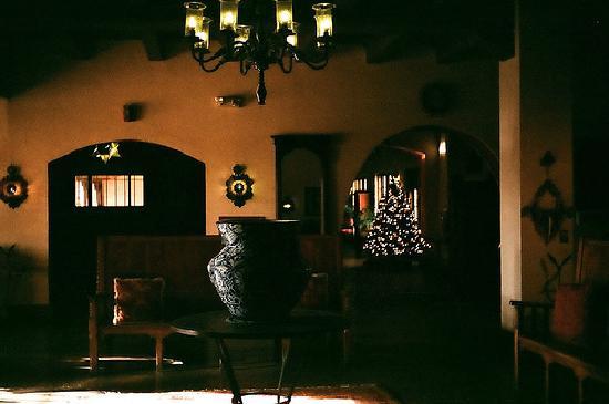 La Posada Hotel: Interior scene, cool and dark