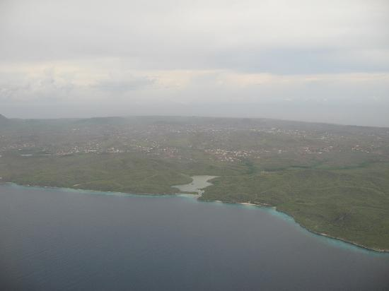 The Royal Sea Aquarium Resort: view of coast from plane