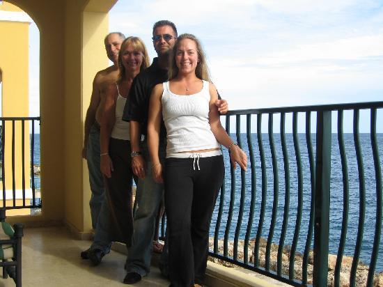 The Royal Sea Aquarium Resort: on balcony