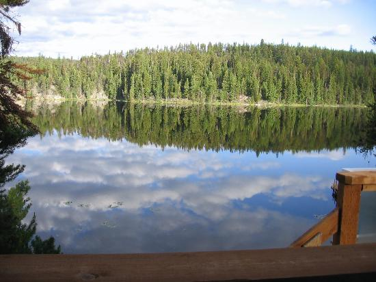 Idabel Lake, Canada: view from my deck at Idabel