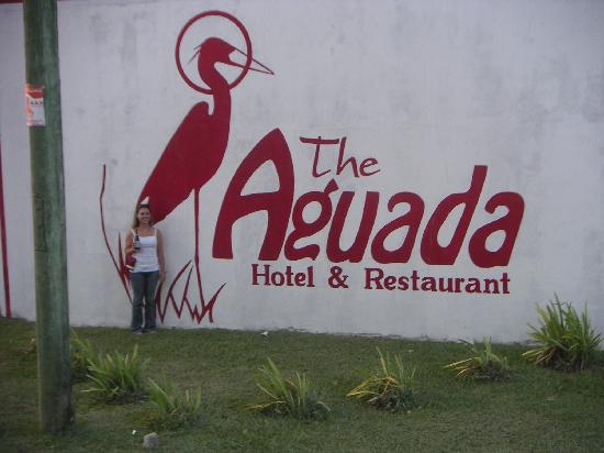 Aguada Hotel : It is hard to miss the Hotel with this sign