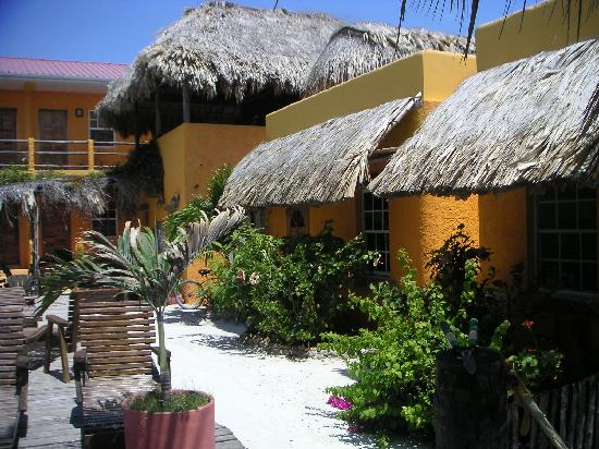 Seaside Cabanas: Our room was the one to the right of the thatched roof