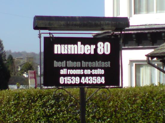Number 80 bed then breakfast: number 80