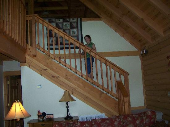 Cobbly Nob Rentals: Going Up The Loft Of Mountain Siesta Cabin