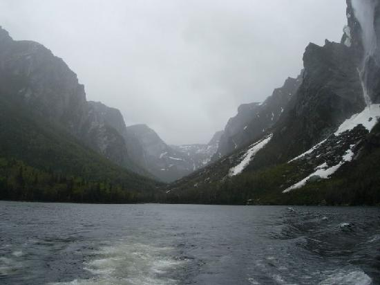Western Brook Pond from boat