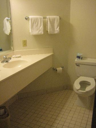Motel 6 Bristol: The bathroom (tub to the right)