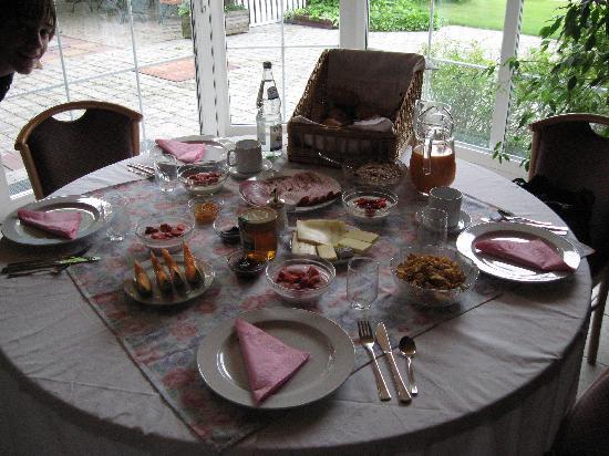 Landhotel Hartenthal: breakfast overlooking the alps