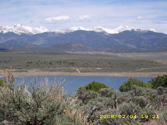 San Luis Inn Motel: The Sangre de Cristo Mountains near San Luis, CO (oops! date on photo is wrong, picture from May