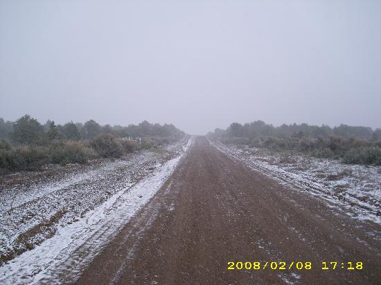 San Luis, Kolorado: We were surprised by the snow in May 2008