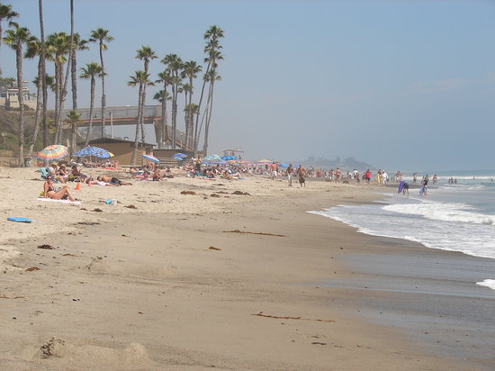 View of the San Clemente City Beach, just below the Beachcomber