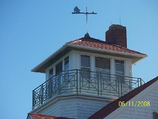 closeup of watch tower and weather vain - Picture of Eastham