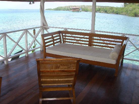 Bocas Villas: beautiful day from terrace