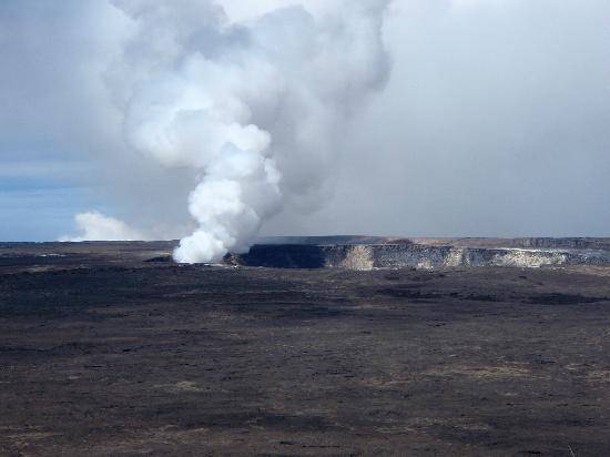Vavoom Volcano Tours: plume at the summit