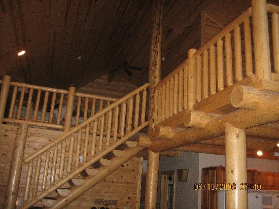 The Pines at Island Park: Stairway to loft