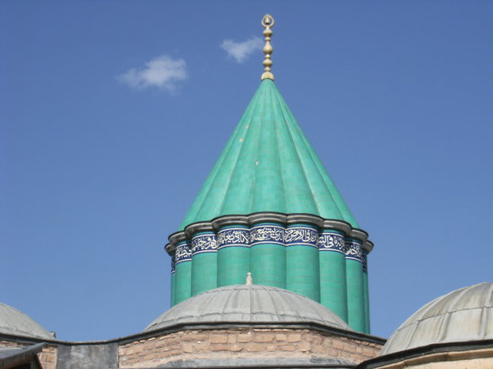 Konya, Turkey: Abive the tomb
