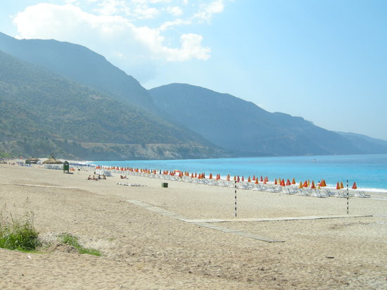 Ölüdeniz, Turkiet: The beach in Oludeniz