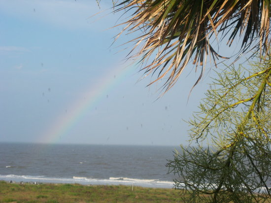 Jekyll Island, GA: Rainbow after the rainstorm