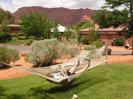 Ivins, UT: There are hammocks throughout the property so you can take a quick nap
