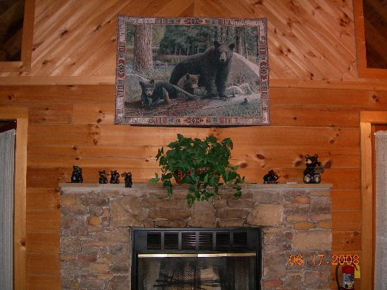 Hidden Mountain Resort: the fireplace area