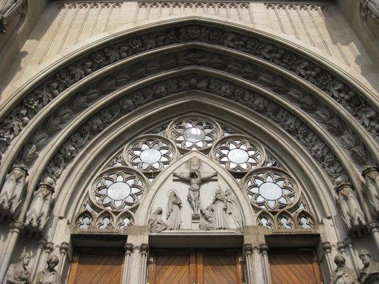 Catedral da Sé de São Paulo : close up external facade