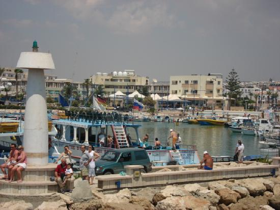 Nissi Beach Resort: Ayia Napa harbour -  we were going on a little cruise boat around the coast