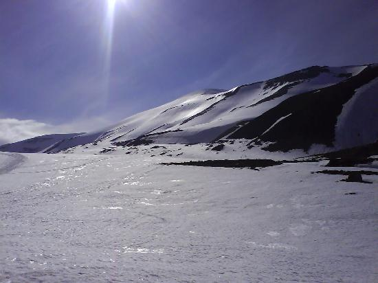 Svalbard, Norway: Longyearbreen (glacier) on an afternoon in June 2008