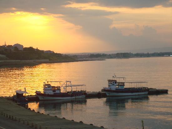 Nessebar, Bulgarien: sunset from another restaurant