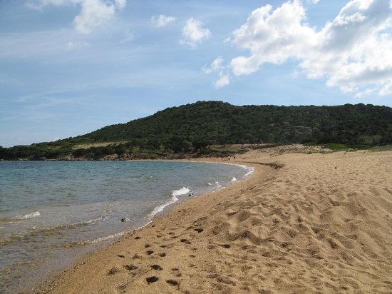 Baia Sardinia, Italy: Hotel La Rocca's beach