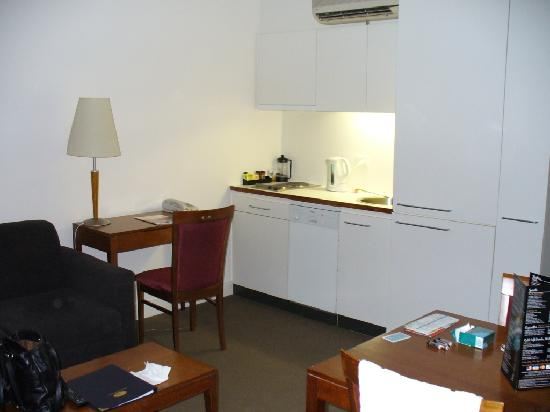 Living room kitchenette picture of metro apartments on bank place melbourne tripadvisor - Bank kitchenette ...