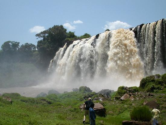 Bahar Dar, Etiópia: The falls marking start of the Blue Nile