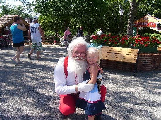 Holiday World & Splashin' Safari: Aria, keeps asking when she can go see her new friend again (Santa)