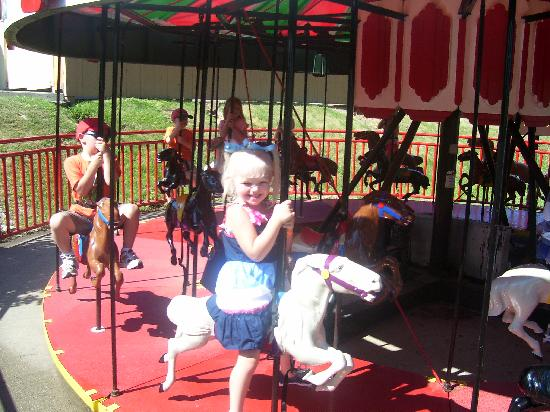 Holiday World & Splashin' Safari: She loves her pony!