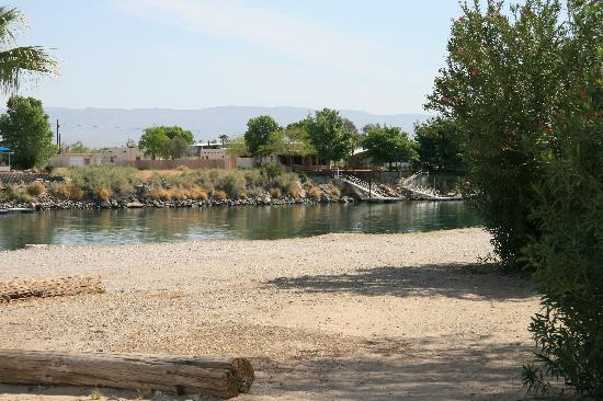 Needles Marina Park: More typical river view site.  Needles Marina RV Park