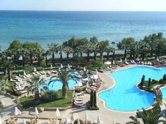 Sani Beach: Pool view