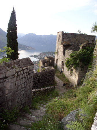 Kotor, Karadağ: the view a bit higher up