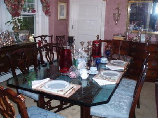 Classic Victorian Estate Inn: Dining room