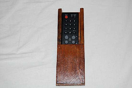 Eden Bungalows: the remote screwed to the box (deluxe bungalow)
