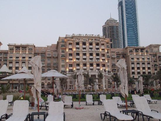 The Westin Dubai Mina Seyahi Beach Resort & Marina: from the beach near sunset