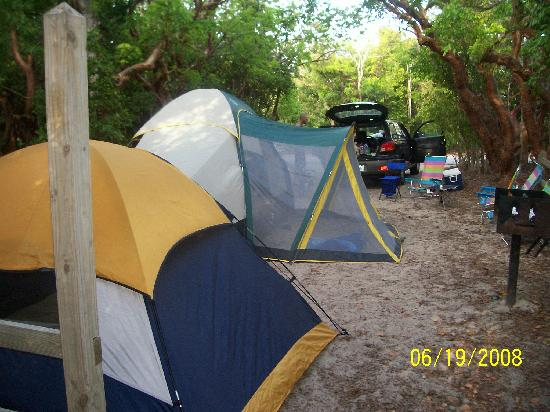 Bahia Honda State Park Campgrounds: our tents
