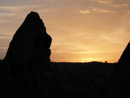 Sunset from the Terrace of Katpatuka Cave Hotel