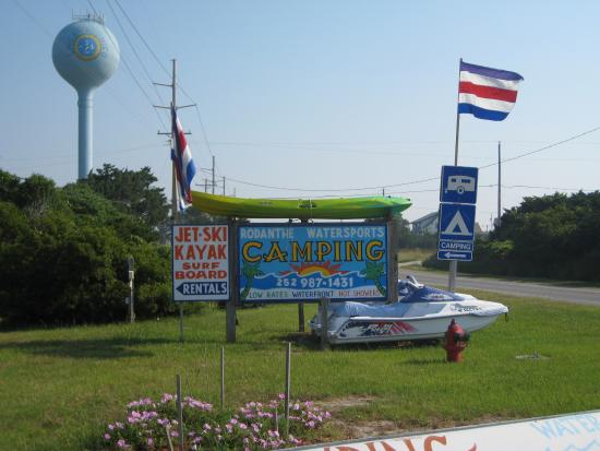 Rodanthe Watersports and Campground: campground sign